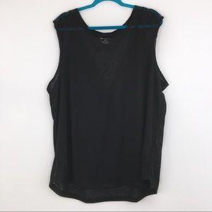 Lane Bryant Black Mesh/Lace Tank Top Size 26/28